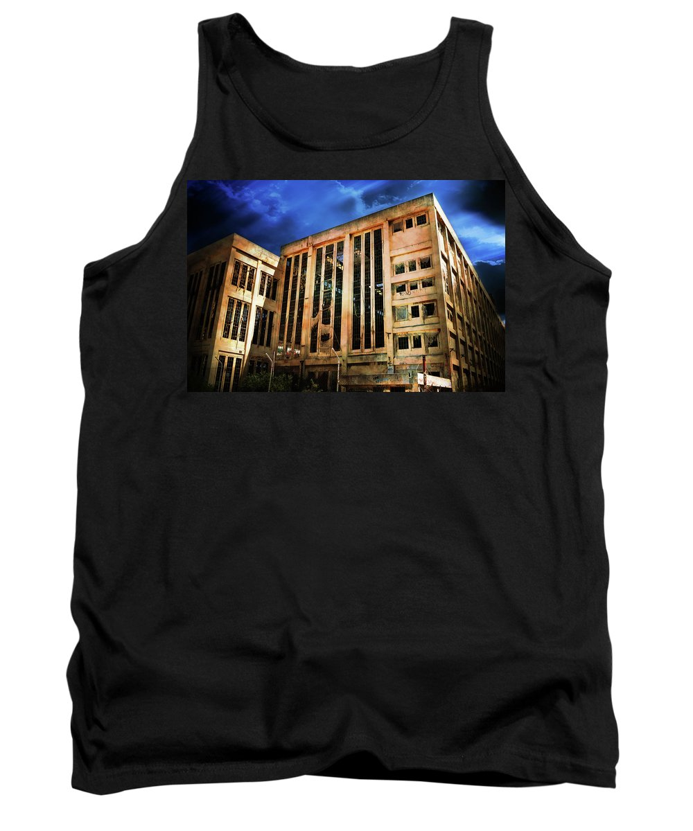 Building Tank Top featuring the photograph Dying Building by Phill Petrovic