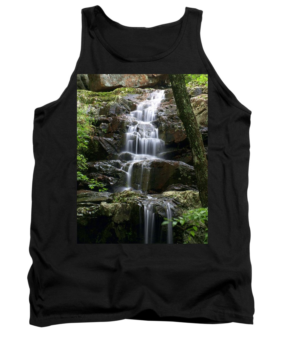 Waterfalls Tank Top featuring the photograph E Falls by Marty Koch