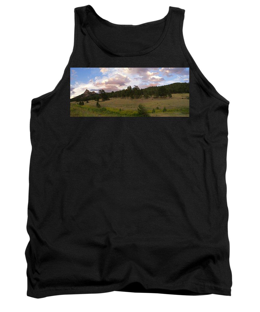 Eagle Roick Tank Top featuring the photograph Eagle Rock Estes Park Colorado by Heather Coen