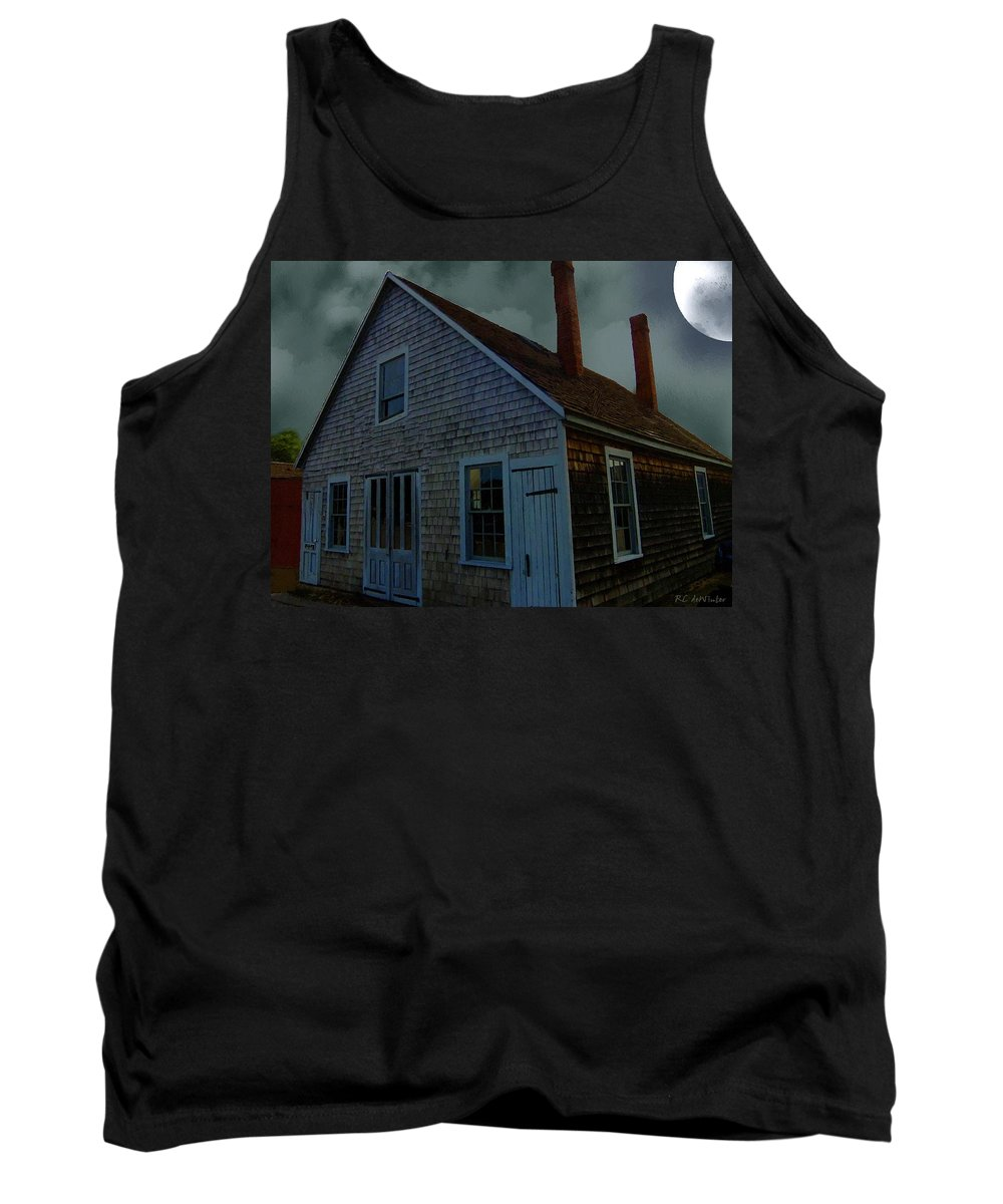 Autumn Tank Top featuring the painting Early American Moonlight by RC DeWinter