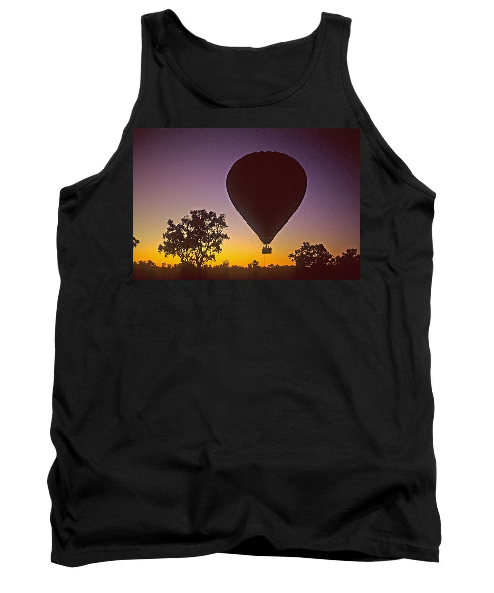 Balloon Tank Top featuring the photograph Early Morning Balloon Ride by Gary Wonning