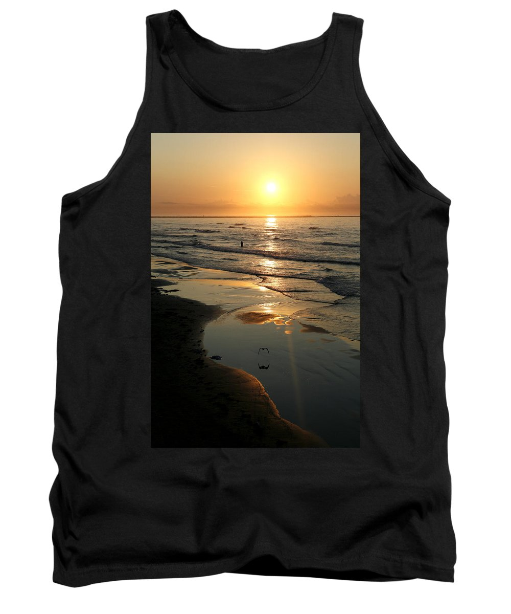 Water Tank Top featuring the photograph Early Morning Fishing by Marilyn Hunt