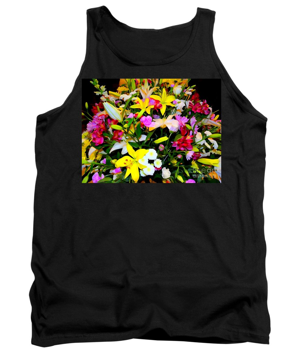 Digital Art Tank Top featuring the photograph Easter Flowers by Ed Weidman