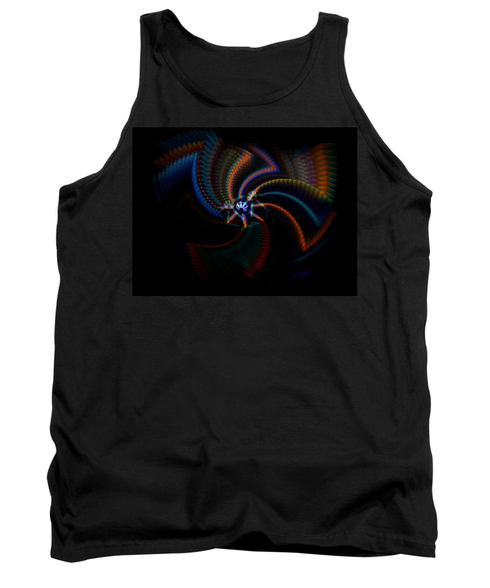 Chaos Tank Top featuring the painting Echoes by Charles Stuart