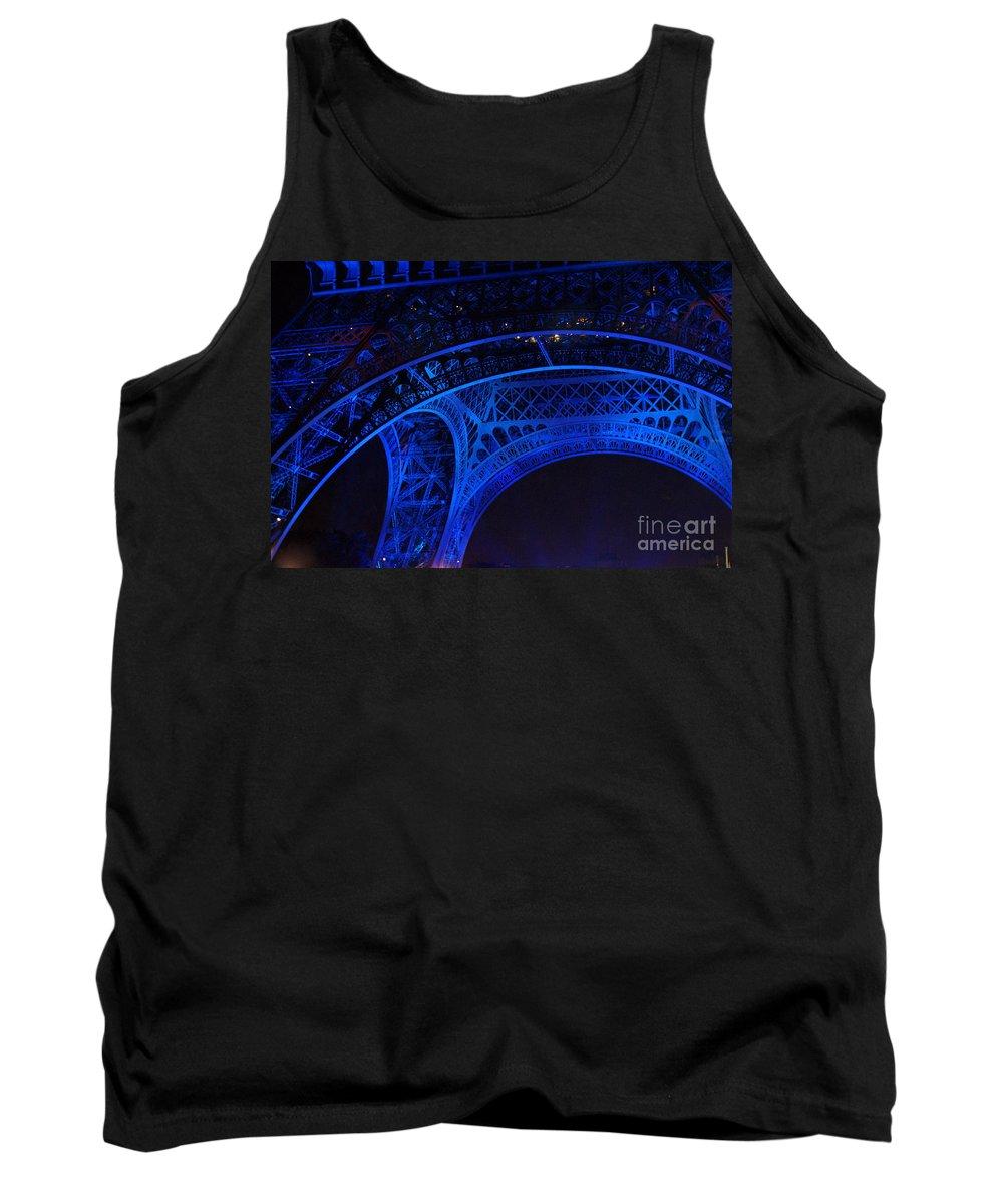 Eiffel Tower Tank Top featuring the photograph Eiffel Blue by Christine Jepsen