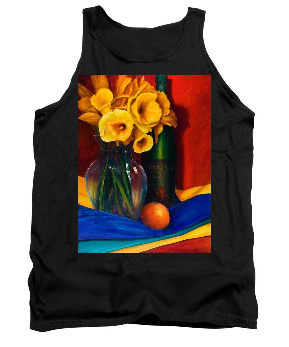 Red Tank Top featuring the painting El Nino by Shannon Grissom