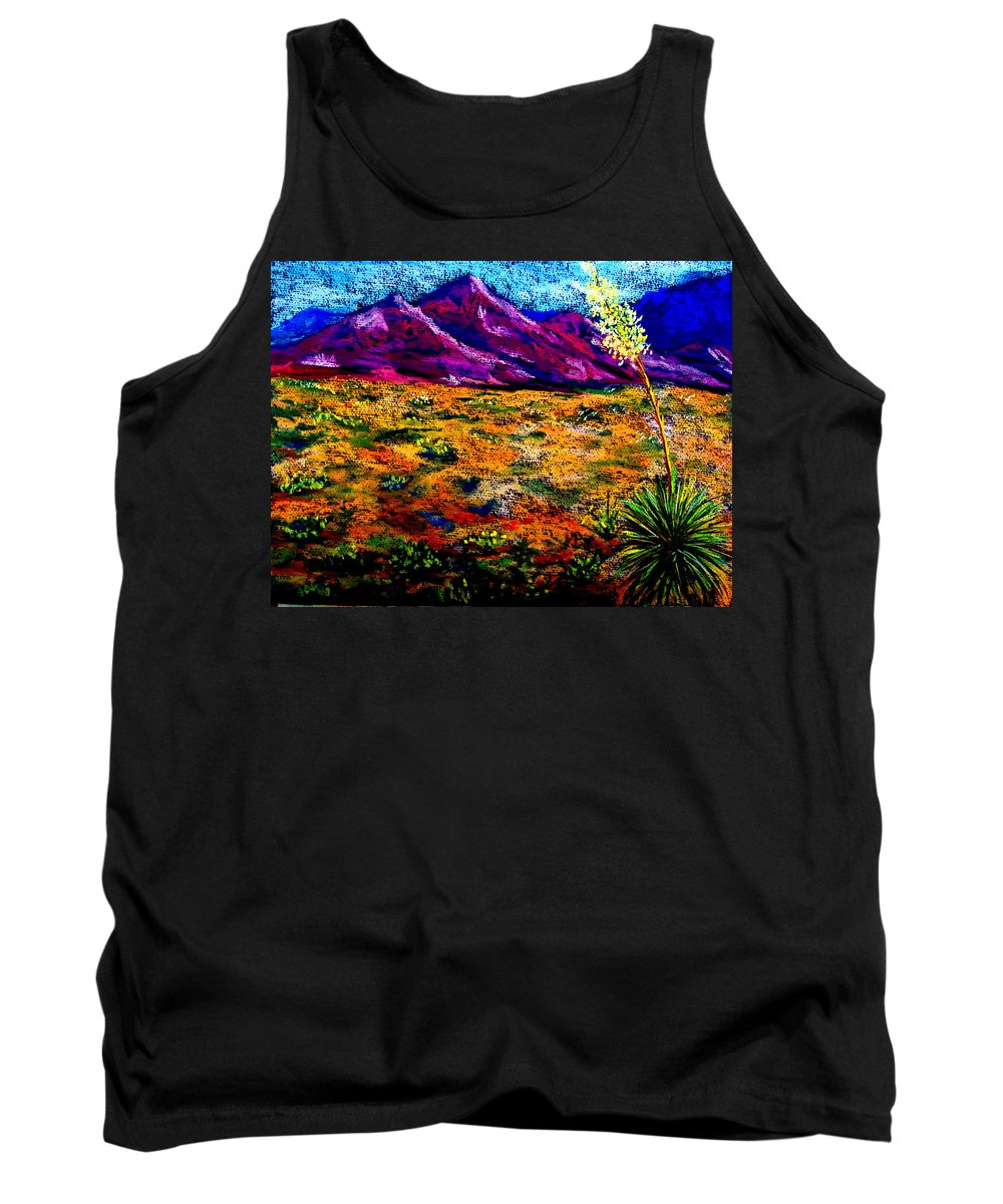 Yucca Tank Top featuring the painting El Paso by Melinda Etzold