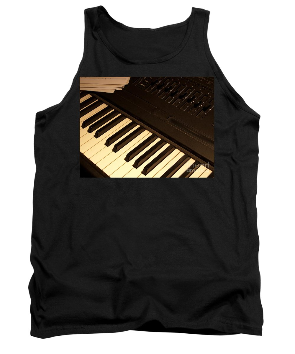 Keyboard Tank Top featuring the photograph Electronic Keyboard by Ann Horn