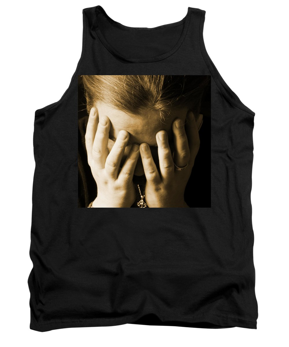 Elena Tank Top featuring the photograph Elena Hands by Brainwave Pictures