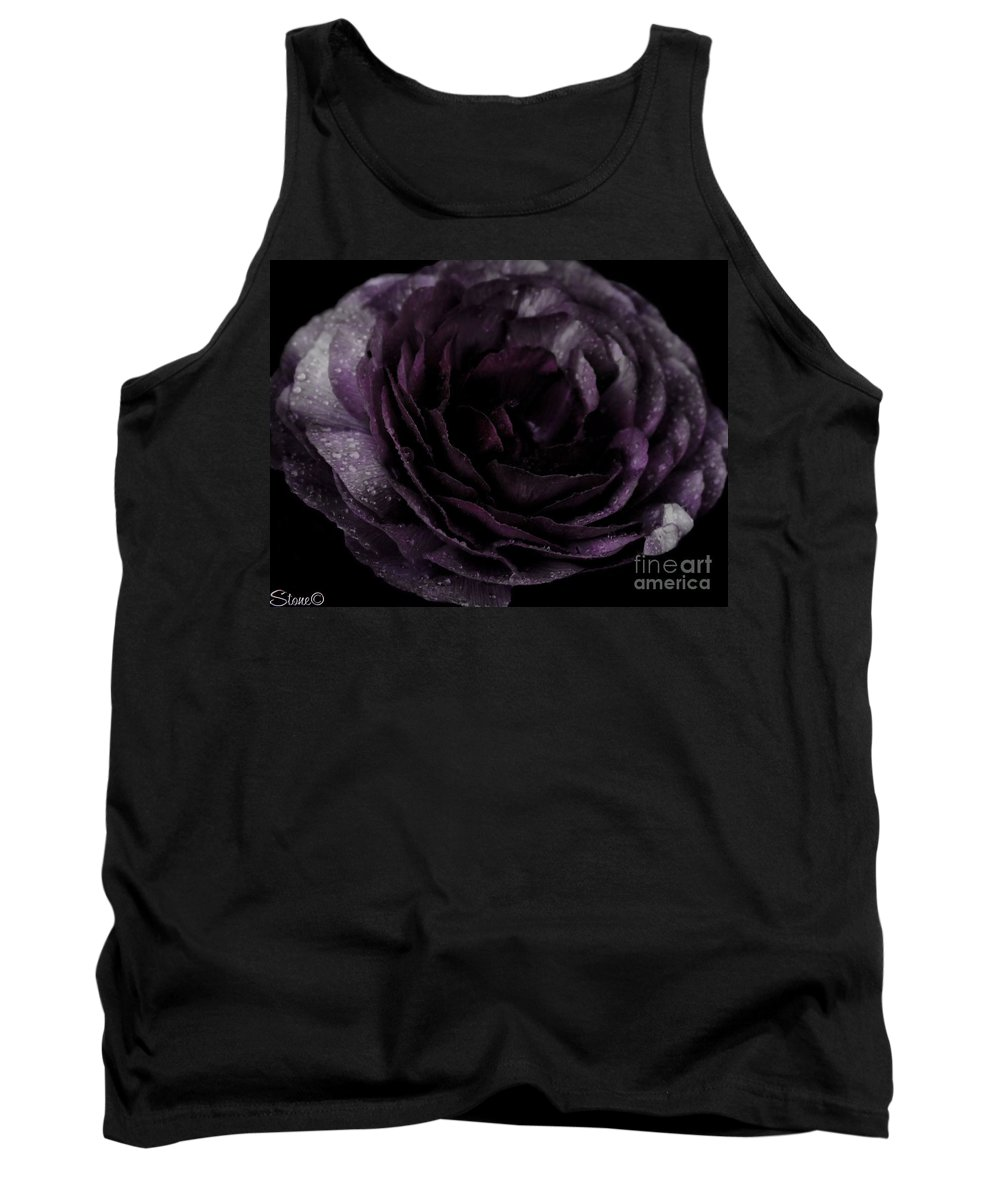 Purple Tank Top featuring the photograph Emily's Great Ant Thingy Flower..... by September Stone