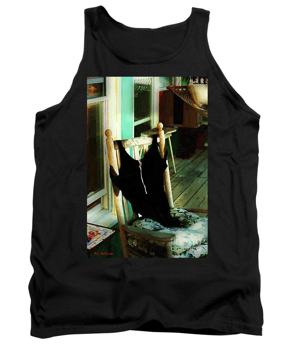 Bathing Suit Tank Top featuring the painting Empty Suit by RC DeWinter