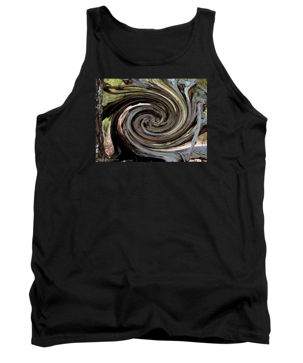 Tree Tank Top featuring the digital art En Route by Vincent Green