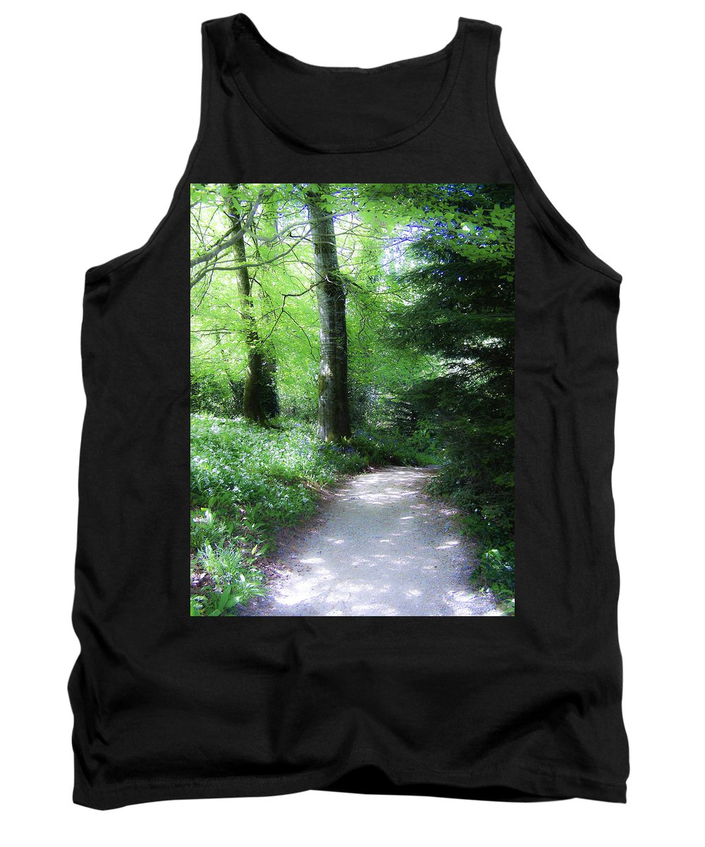 Ireland Tank Top featuring the photograph Enchanted Forest At Blarney Castle Ireland by Teresa Mucha
