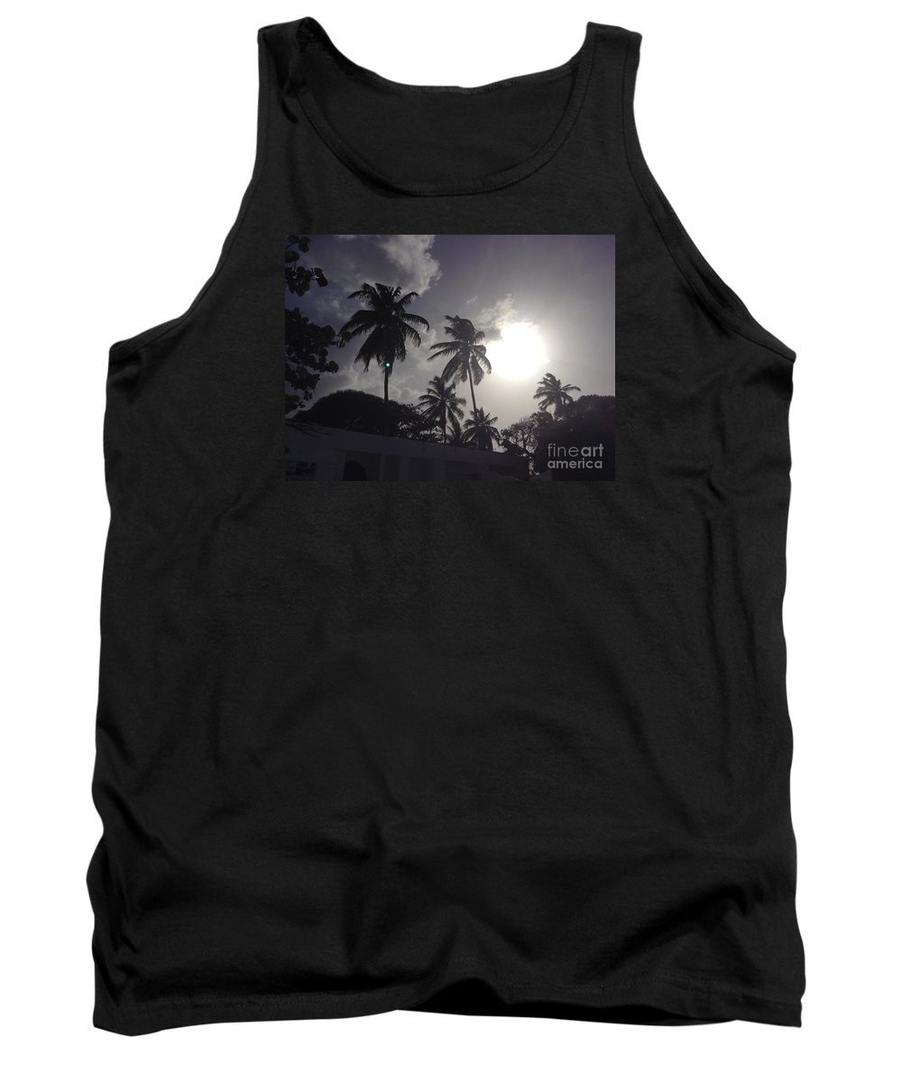 Sunset Tank Top featuring the photograph End Of The Day In The Islands by Gina Sullivan