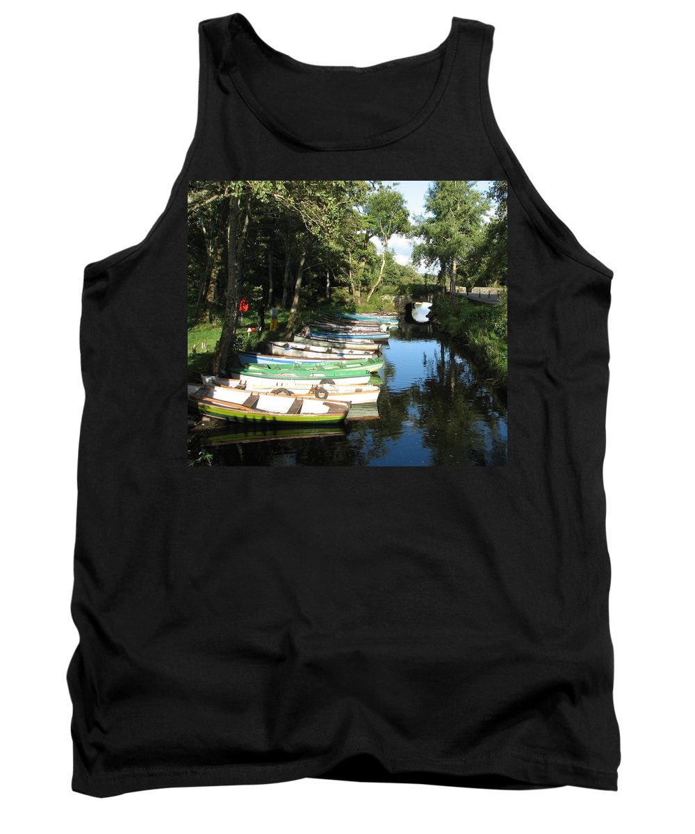 Boat Tank Top featuring the photograph End Of The Day by Kelly Mezzapelle