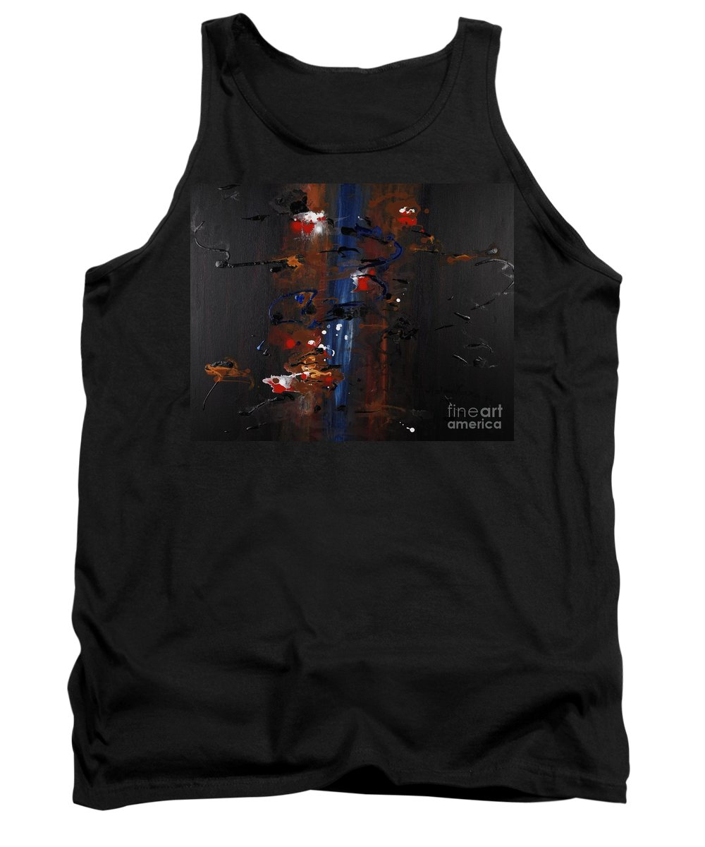Black Tank Top featuring the painting Energy by Nadine Rippelmeyer