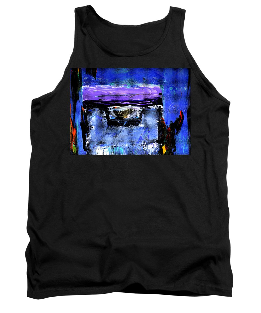 Abstract Tank Top featuring the painting Enter by Wayne Potrafka