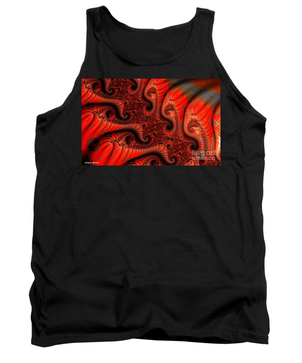 Clay Tank Top featuring the digital art Epidermal Emancipation by Clayton Bruster