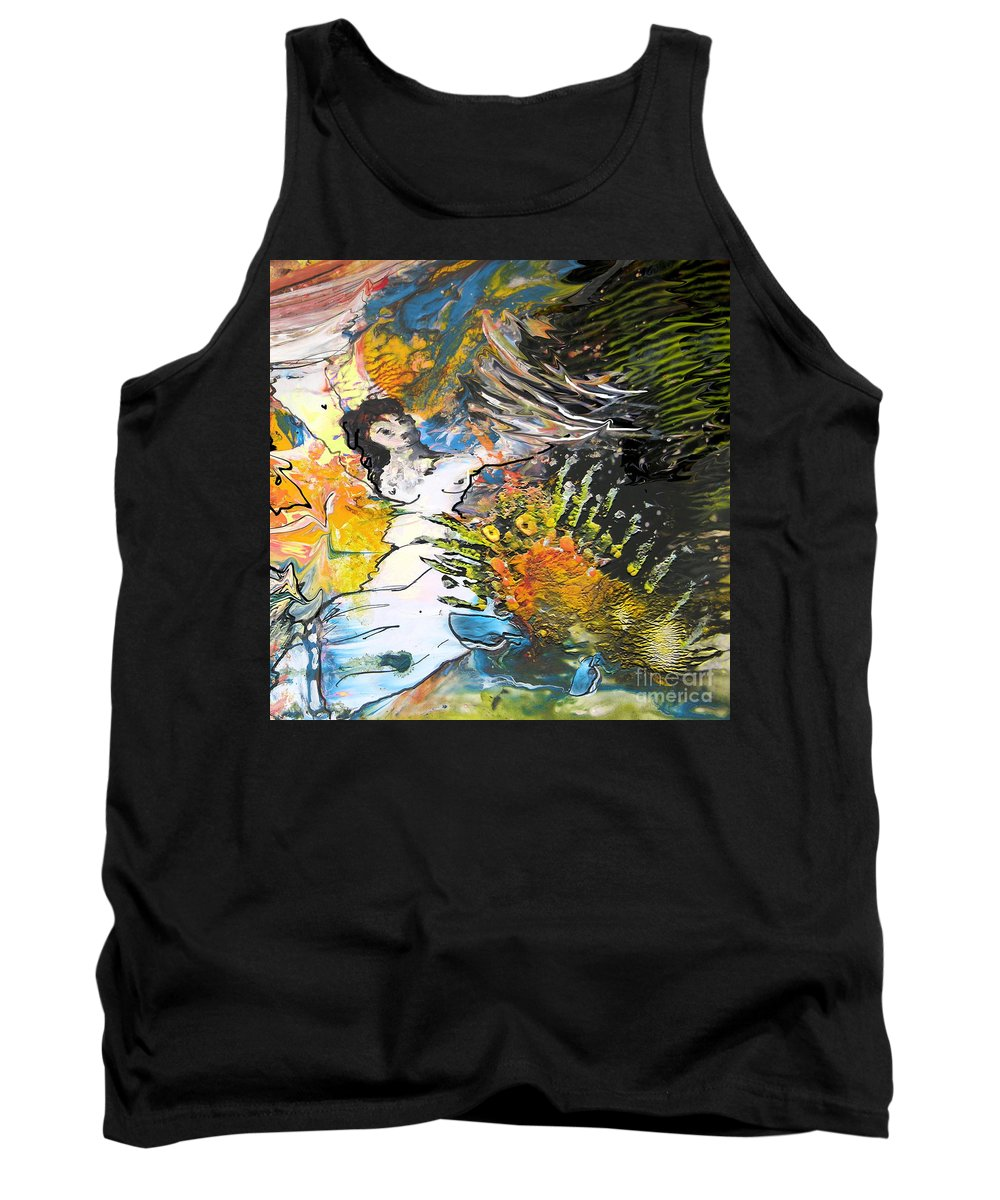Miki Tank Top featuring the painting Erotype 07 2 by Miki De Goodaboom
