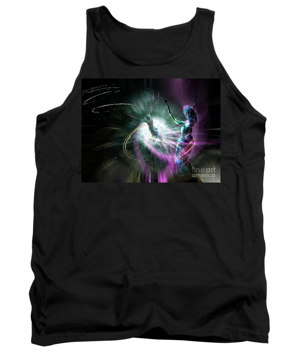 Nature Painting Tank Top featuring the painting Eternel Feminin 02 by Miki De Goodaboom