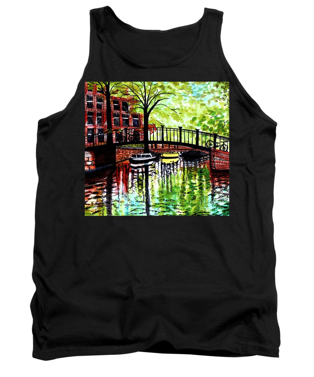Landscape Tank Top featuring the painting European Travels by Elizabeth Robinette Tyndall