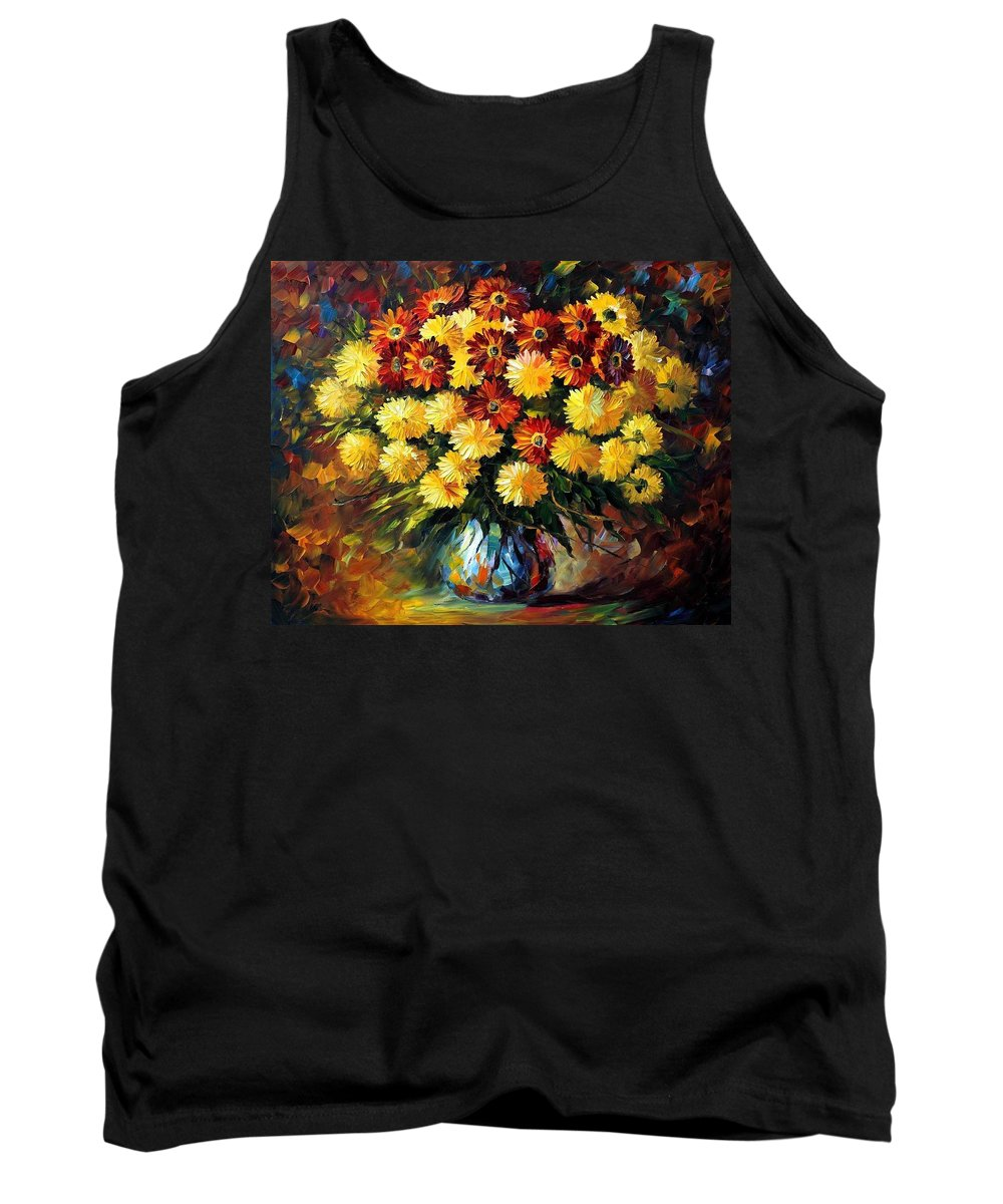 Afremov Tank Top featuring the painting Evening Mood by Leonid Afremov