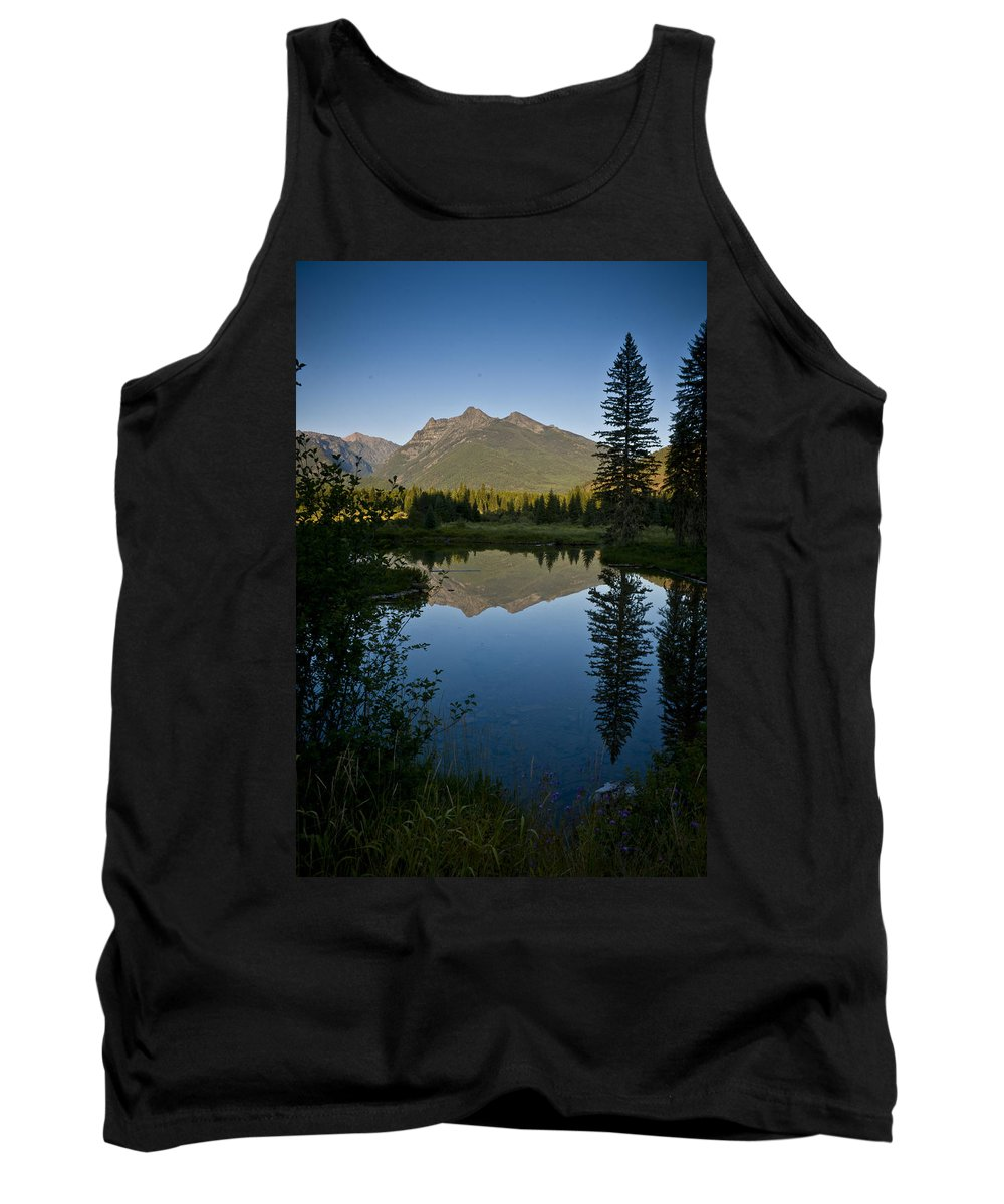 Reflections Tank Top featuring the photograph Evening Reflection by Albert Seger