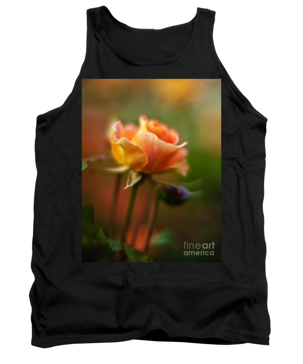 Rose Tank Top featuring the photograph Evening Rose by Mike Reid