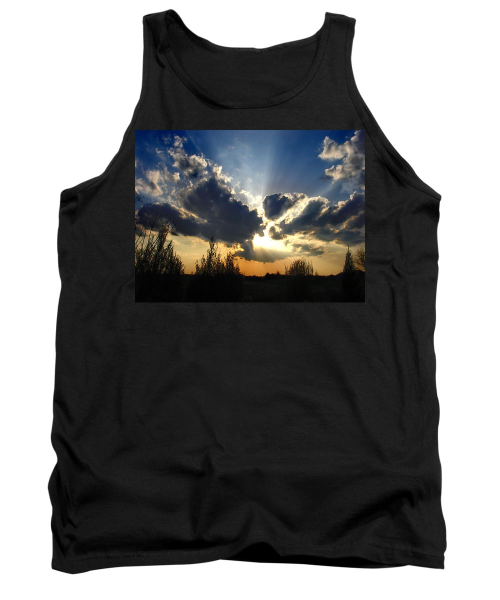 Landscape Tank Top featuring the photograph Evening Sky by Steve Karol