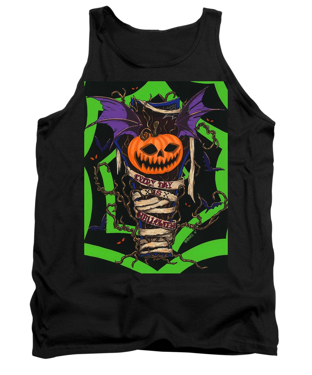 Halloween Tank Top featuring the painting Every Day Is Halloween by Steve Hartwell