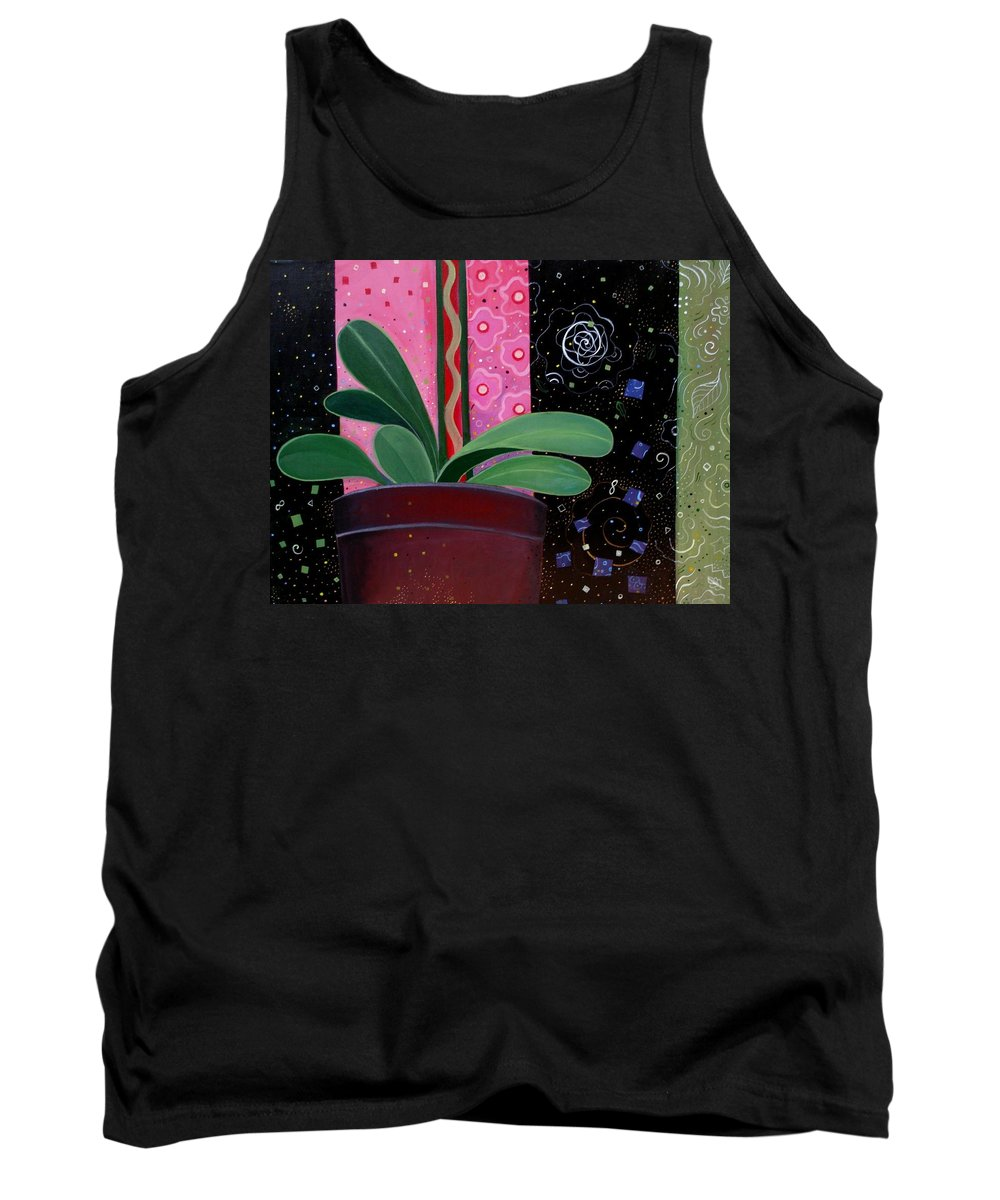Sacred Tank Top featuring the painting Everyday Sacred by Helena Tiainen