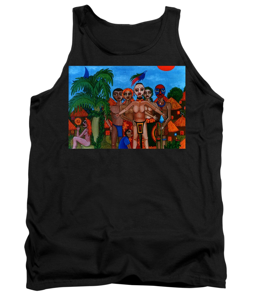 Homeland Tank Top featuring the painting Exiled In Homeland by Madalena Lobao-Tello