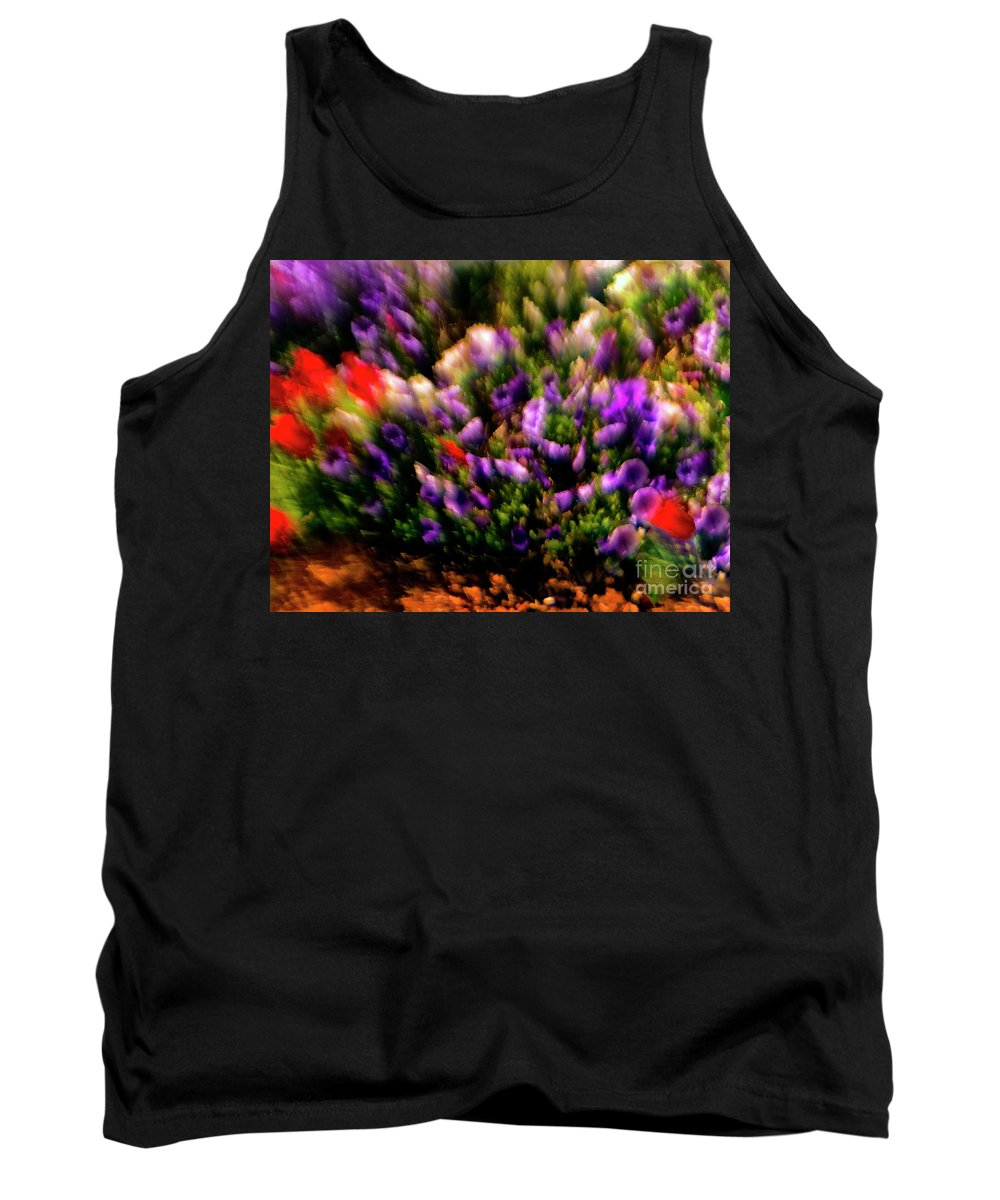 Flowers Tank Top featuring the photograph Exploding Flowers 2 by Madeline Ellis