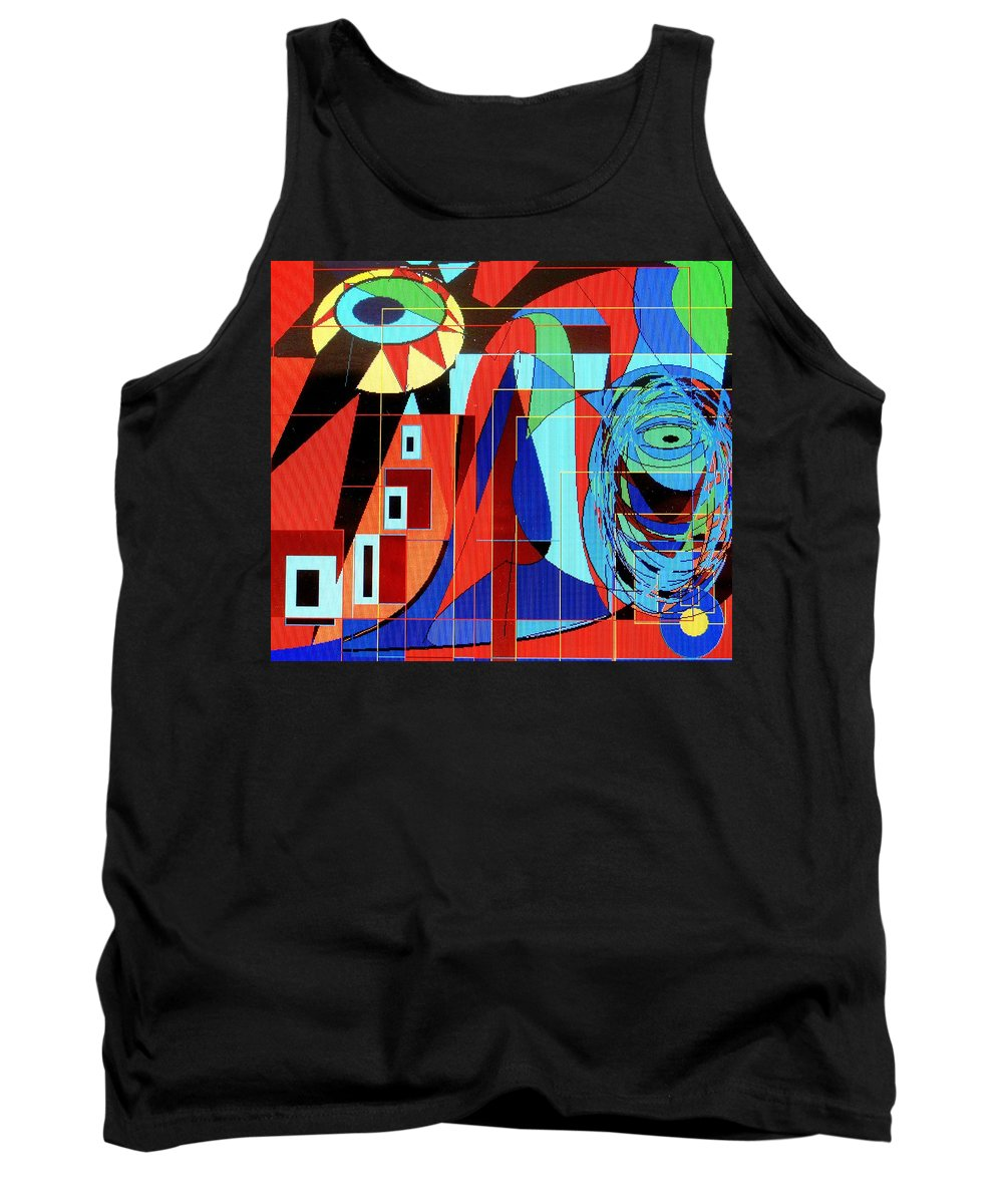 Eye Tank Top featuring the digital art Eye Of The Tiger by Ian MacDonald