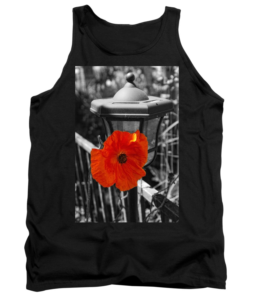 Poppy Tank Top featuring the photograph Eye Popper by Donna Blackhall