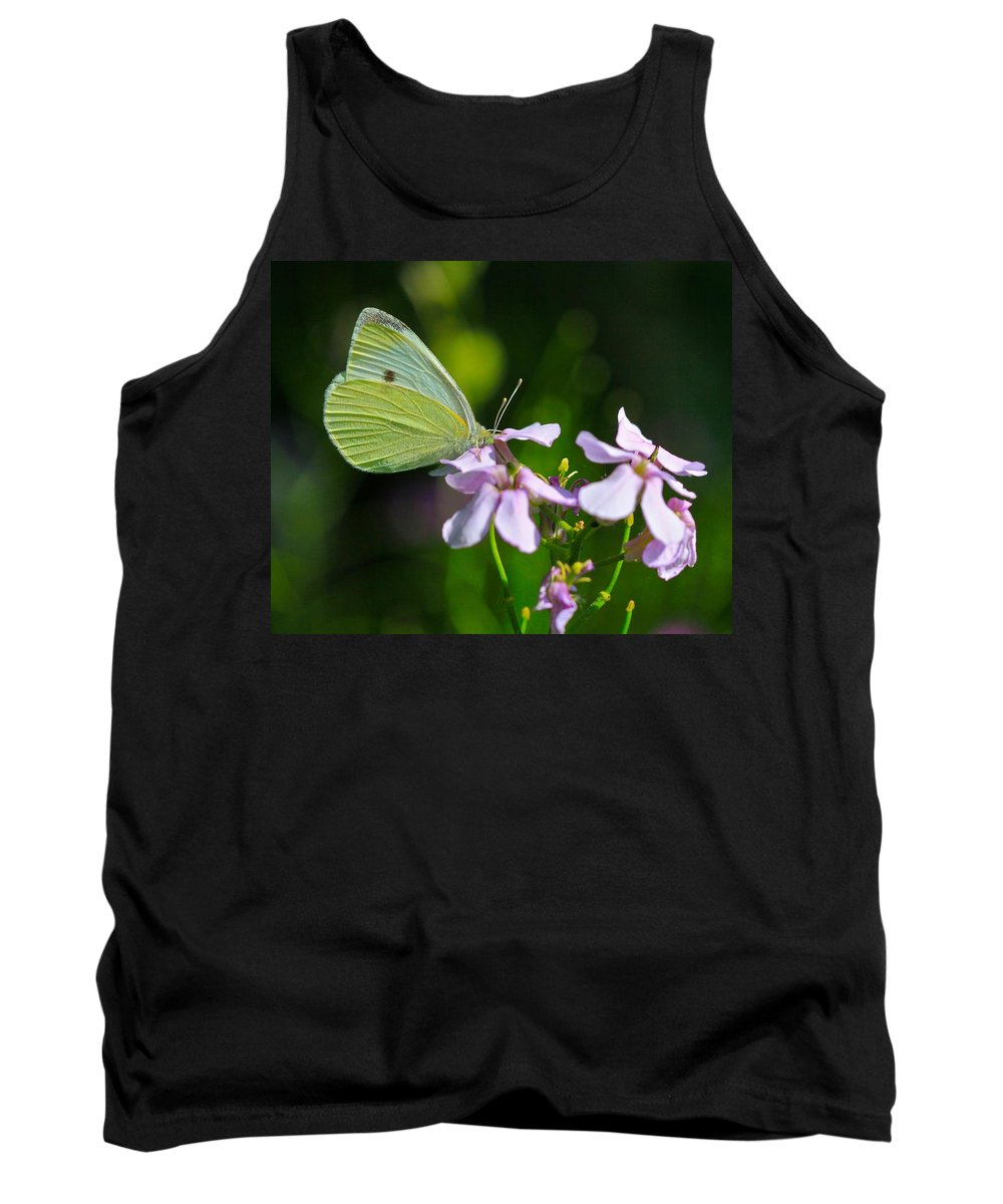 Related Tags: Butterfly Artwork Tank Top featuring the photograph Face First by Robert Pearson