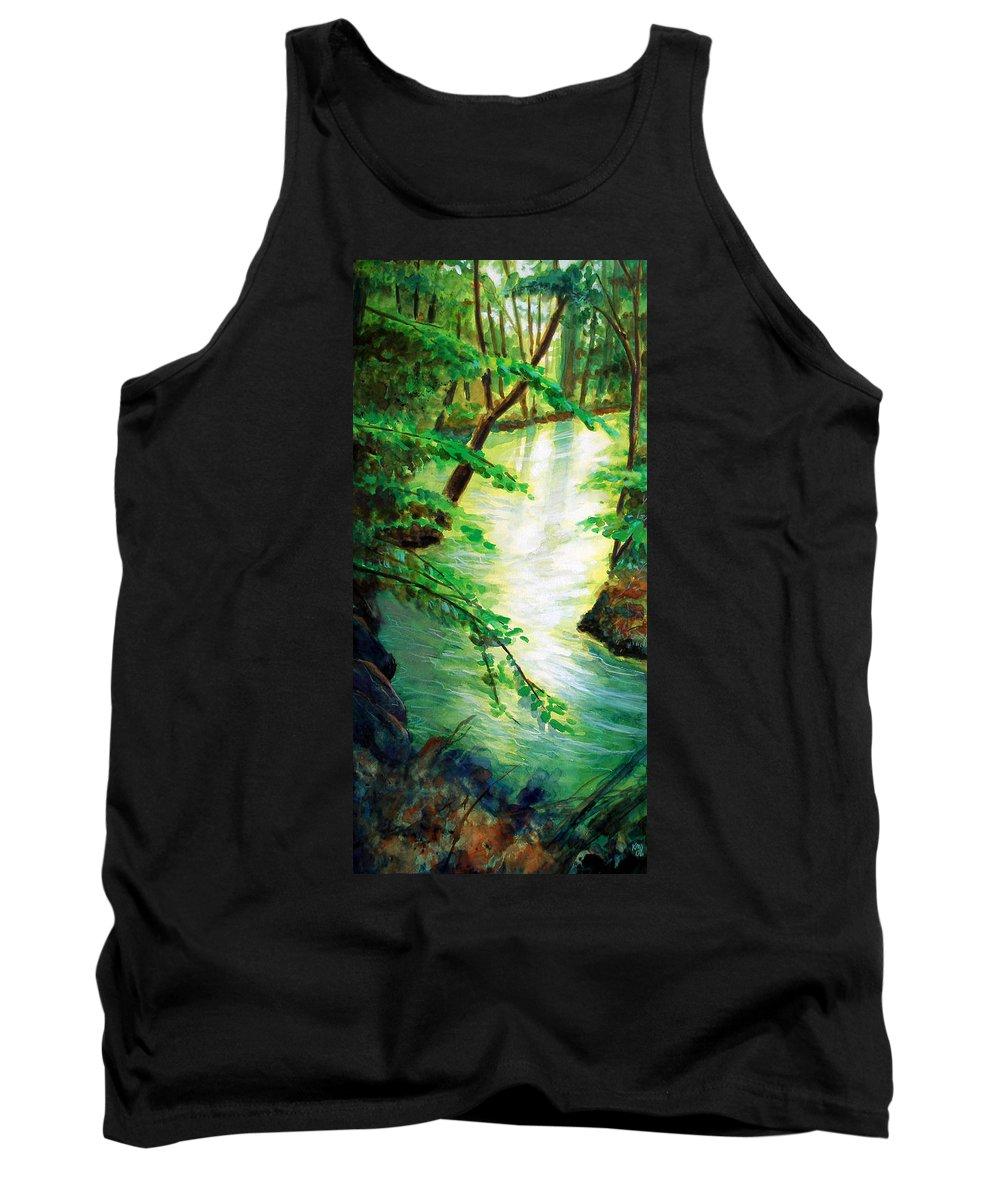 Forest Tank Top featuring the painting Fairfax Summer by Ken Meyer jr