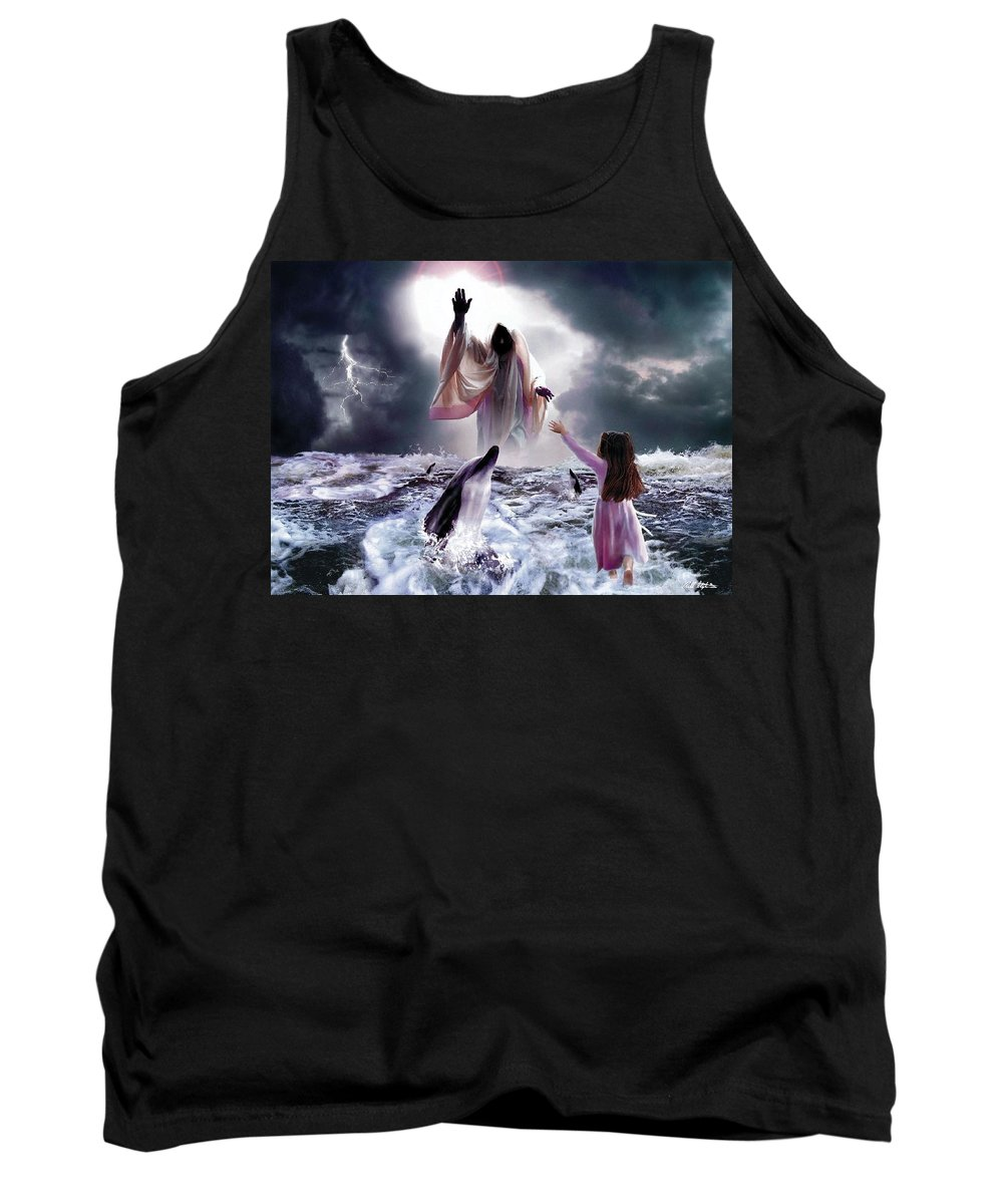 Children Tank Top featuring the digital art Faith by Bill Stephens