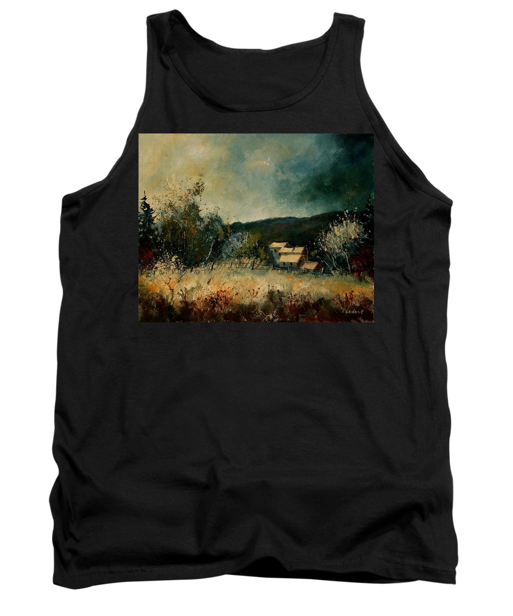 Village Tank Top featuring the painting Fall 4590 by Pol Ledent