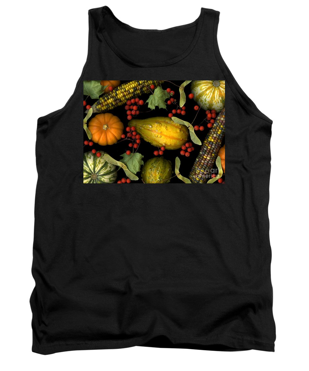 Slanec Tank Top featuring the photograph Fall Harvest by Christian Slanec