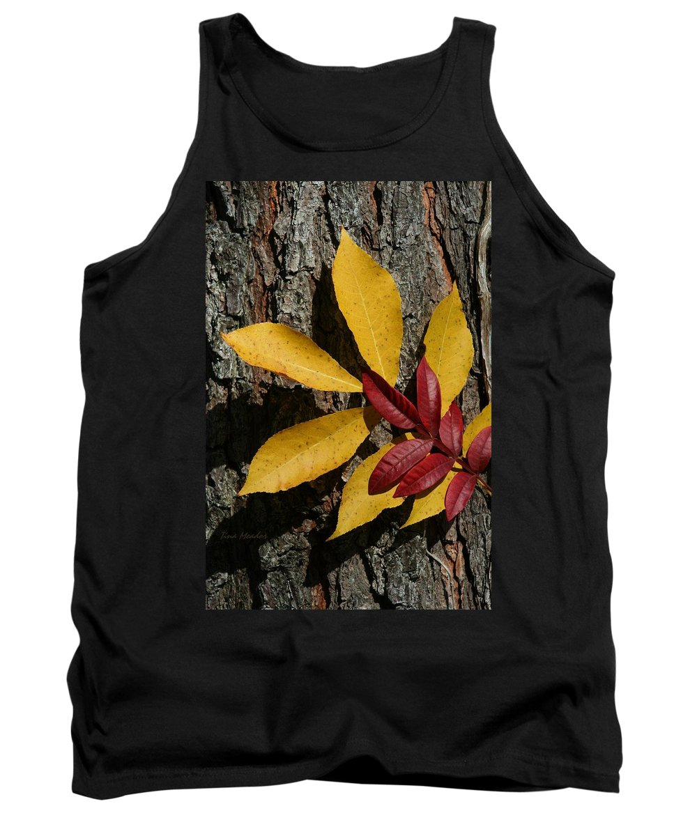 Fall Tank Top featuring the photograph Fall Leaves by Tina Meador