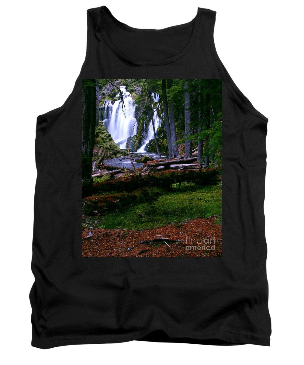 Waterfall Tank Top featuring the photograph Fall Through by Peter Piatt