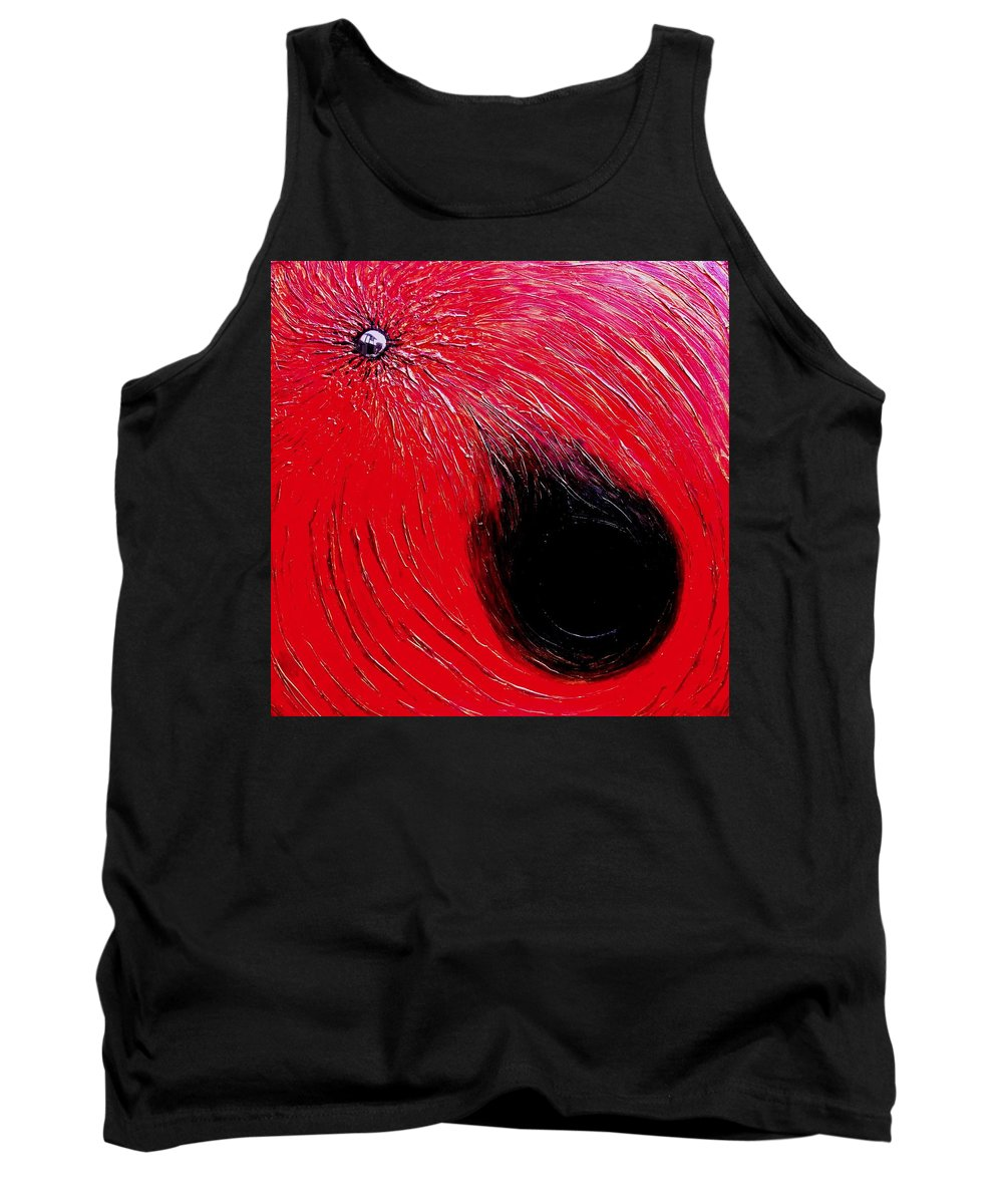 Abstract Tank Top featuring the painting Falling In To Passion by Ian MacDonald