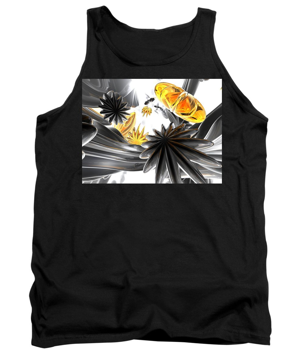 3d Tank Top featuring the digital art Falling Stars Abstract by Alexander Butler
