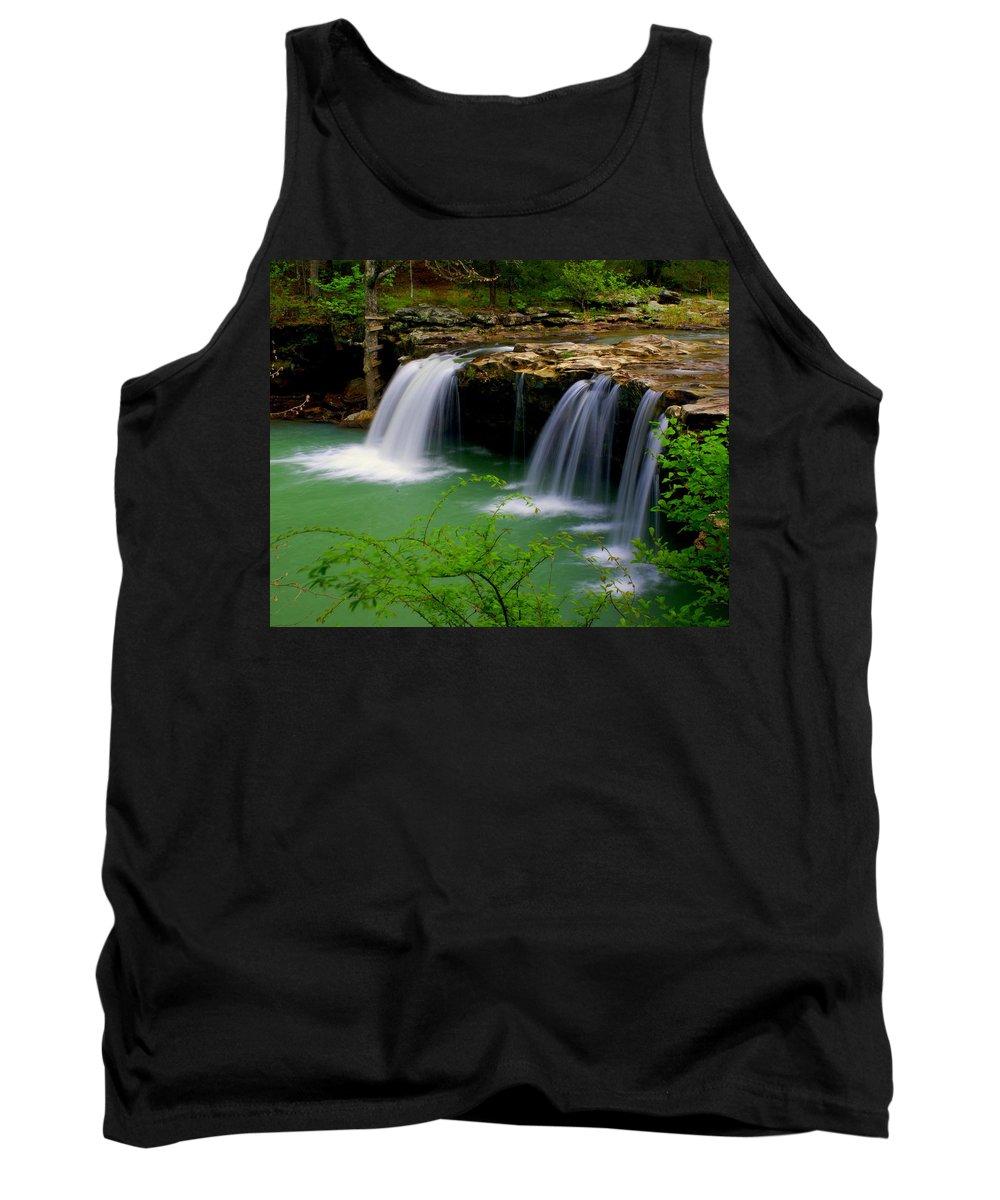 Waterfalls Tank Top featuring the photograph Falling Water Falls by Marty Koch