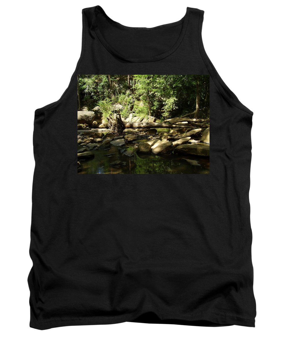 Falls Park Tank Top featuring the photograph Falls Park by Flavia Westerwelle