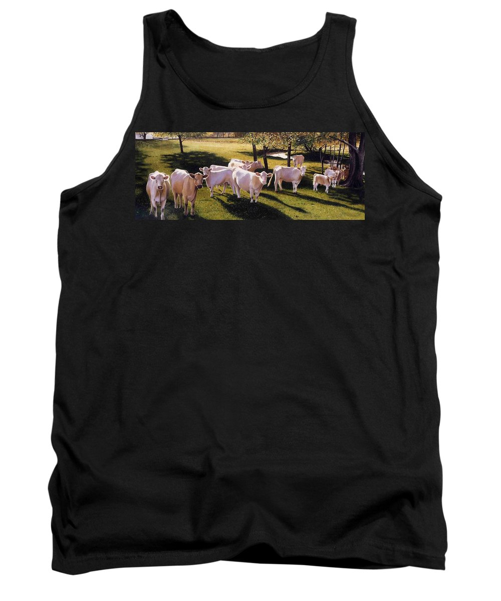 Landscape Tank Top featuring the painting Family Portrait by Denny Bond