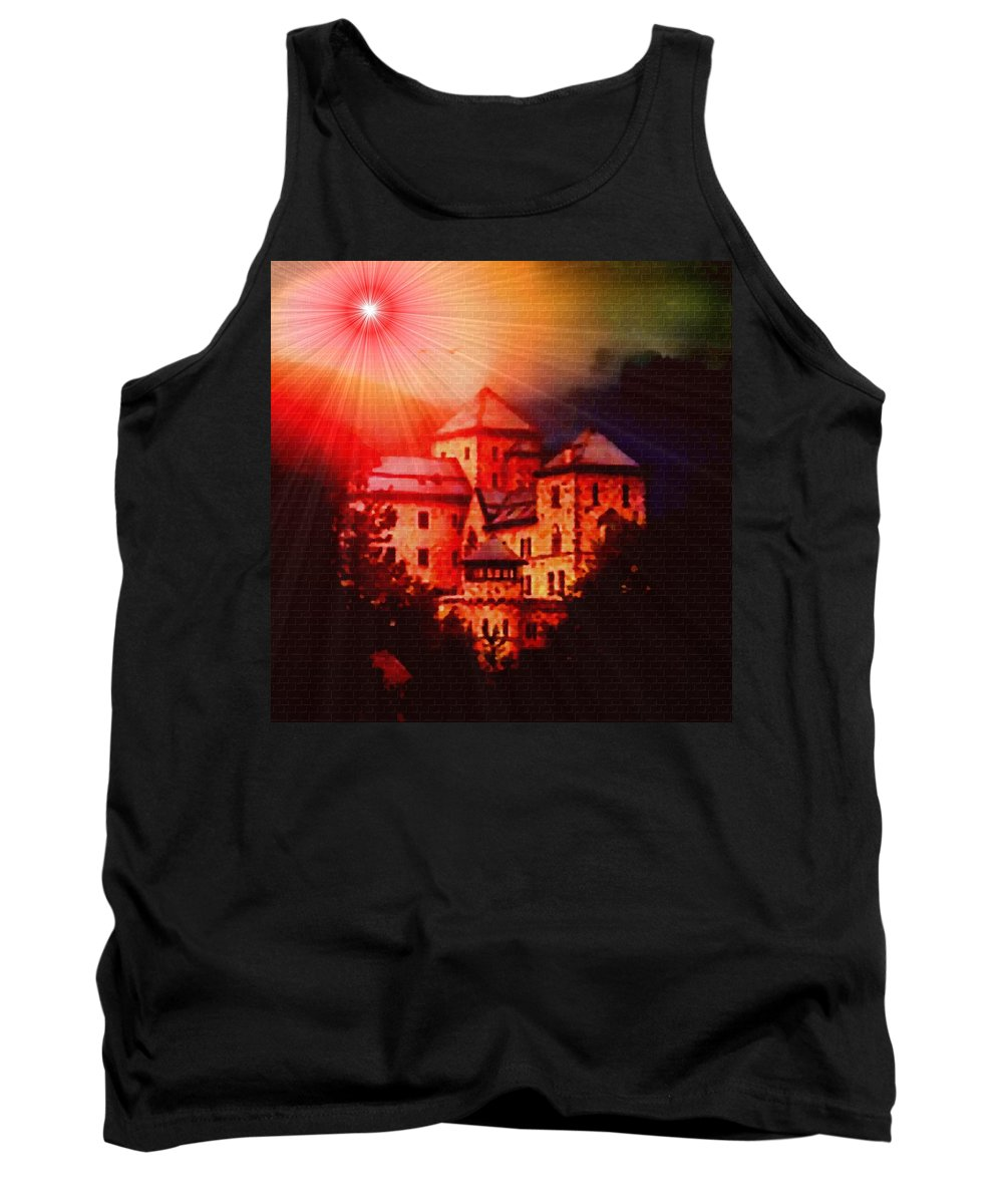 Announcement Tank Top featuring the photograph Fantasy Castle For Mandy Maxwell H B by Gert J Rheeders