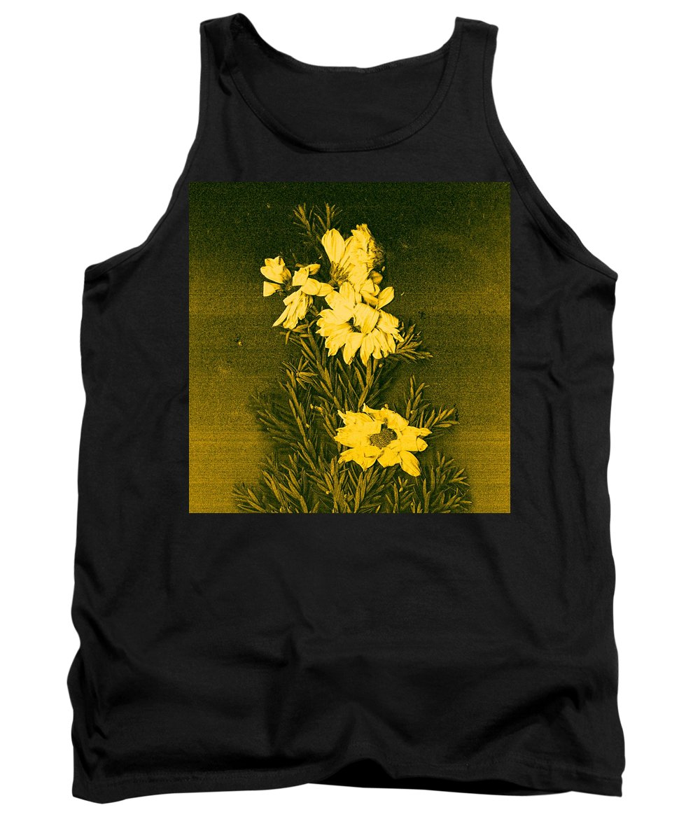 Flowers Tank Top featuring the mixed media Fantasy Tree by Pepita Selles