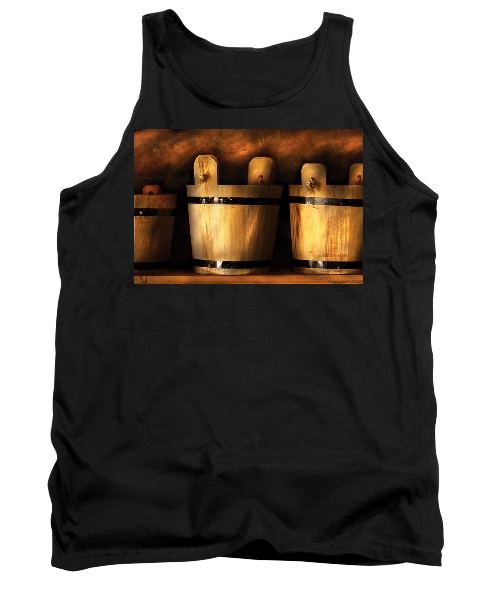 Savad Tank Top featuring the photograph Farm - Pail - Pails For Sale by Mike Savad
